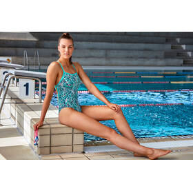 Funkita Strapped In One Piece Badpak Dames blauw/wit